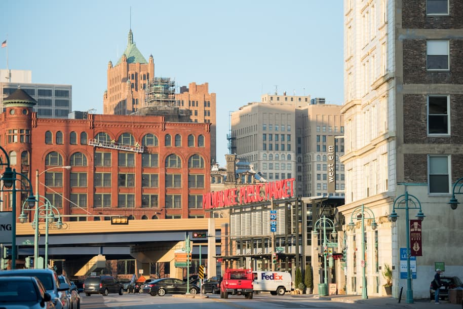 View of Water Street, Milwaukee