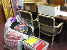 Donated School Supplies Aug 2013